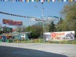 Лазаревское в мае  2010 Парк Культуры и Отдыха, готовимся к 9 мая