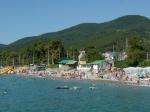пляж Лазаревское август 2009
